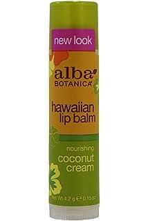 2 Pack - Alba Botanica Hawaiian Lip Balm, Nourshing Coconut Cream 0.15 oz Regenerating Day Cream