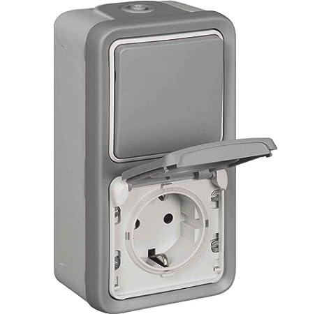 Legrand 69746 Plexo55 - Enchufe e interruptor (IP55, posición ...
