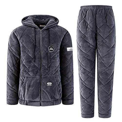 Autumn Service L158 sleeved Home M150 Pajamasx Women's 164cm Long Warm 47 And Coral Cardigan 57kg Suit 30 162cm Pajamas Size Large Fleece Thick Winter 50kg pzqv8xqEwT
