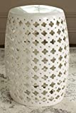 Safavieh Castle Gardens Collection Lacey Cream Glazed Ceramic Garden Stool Review