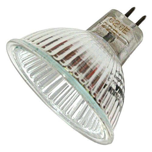 Sylvania 58328 - 50W Halogen Light Bulb - MR16 - Tru-Aim - FNV Wide Flood - Glass Face 12V, 20 - Glasses Wide For Faces