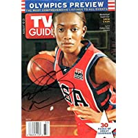 fan products of Signed WNBA USA Swin Cash Autographed Tv Guide w/Pic