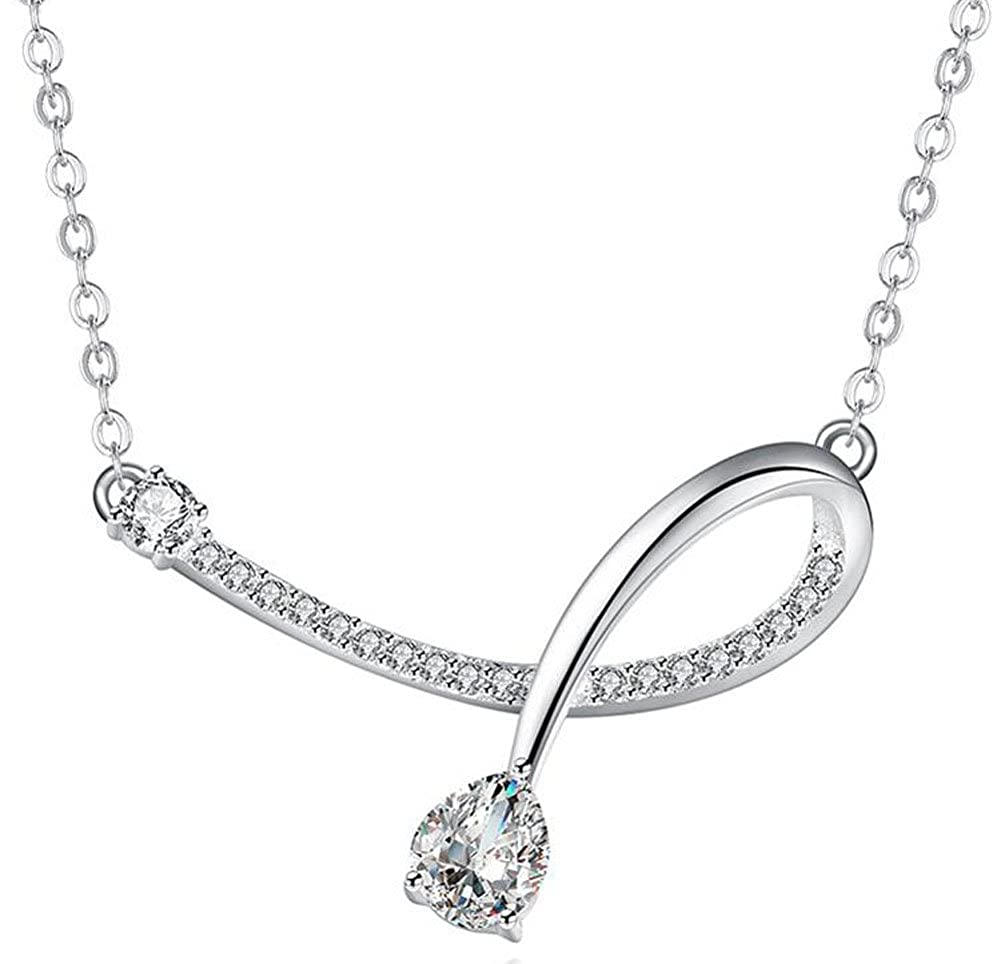 Richy-Glory 925 sterling silver necklace with ladies pendant