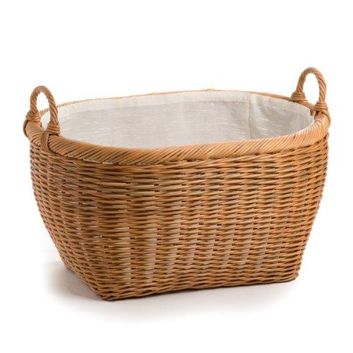 Weave Baskets Rattan - The Basket Lady Oval Wicker Laundry Basket Jumbo (size 1) Toasted Oat