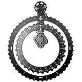 Invotis IN1552 Horloge à Engrenages 2 Roues Noir