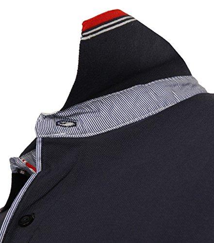 Antonio Basile Herren Poloshirts Dunkelblau R3-BL