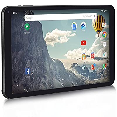 NeuTab 10.1 inch 64-bit Quad Core Android 5.1 Lollipop OS Tablet PC 16GB Nand Flash 1280x800 IPS Display Bluetooth Mini HDMI GPS Supported, 1 Year US Warranty, FCC Certified