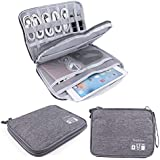 Universal Electronics Accessories Organizer, Waterproof Portable Cable Organizer Bag,Travel Gear Carry Bag for Cables (L, Black) (Grey, L)