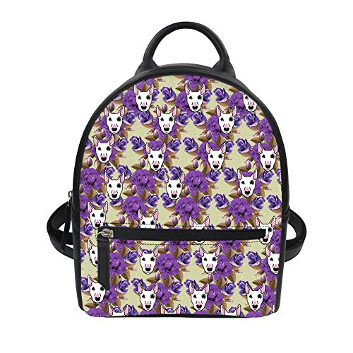 Instantarts Girl Dog Color Mini Floral for Cute Backpack Women Fashion 5 Vintage Purse ROwHnrWxRv
