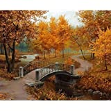 Oil Painting DIY Paint by Number Kit for Autumn Scenic