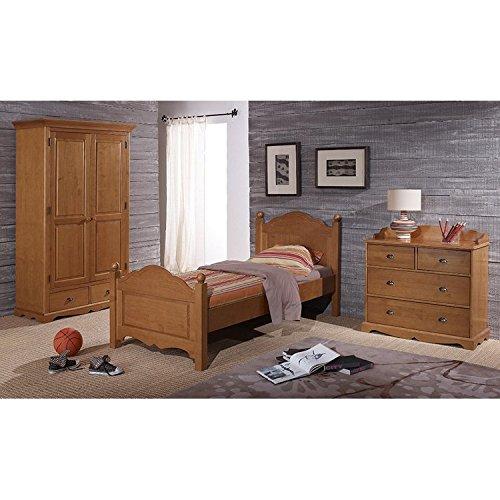 Schöne Möbel nicht zu erinnern, Kiefernholz Honig Kinderzimmer Schrank Wickelkommode Bett 90