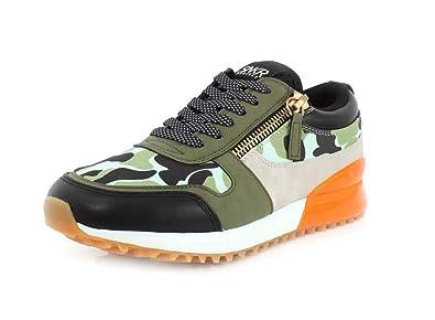 a9e3b01080cbaa SNKR Project Mens Rodeo Olive Orange Black Sneaker - 8