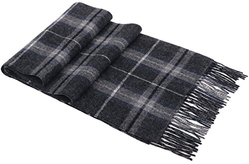 Luxurious Women's Cashmere Scarf Winter Shawls w/ Gift Box, 64.5'' x 11.8'' by Livingston
