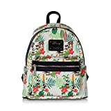 Loungefly x Disney Tropical Mickey/Minnie Mouse AOP Mini Backpack, Cream