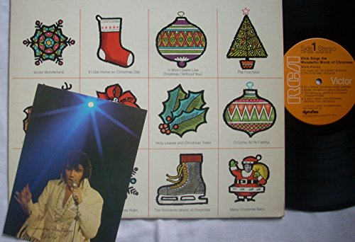 ELVIS PRESLEY Sings The Wonderful World of Christmas with the Chrismas/ Post Card (Elvis Presley The Wonderful World Of Christmas)