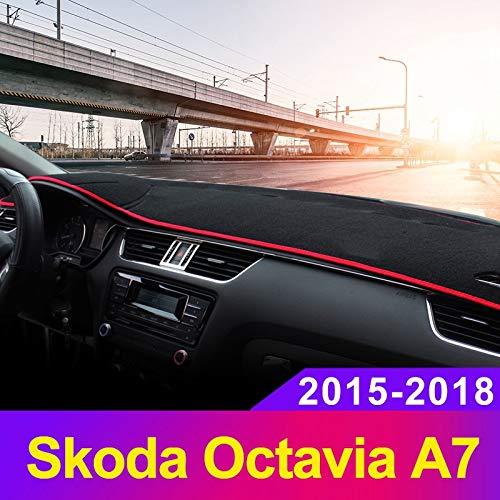 Blu SODIAL Cuscinetto per Consolle Centrale per Cruscotto Parasole per Cruscotto Auto per Skoda Octavia A7 2015 2016 2017 2018 Accessori