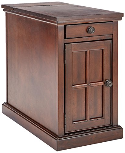 Ashley Furniture Signature Design - Laflorn Chair Side End Table - Rectangular - Dark Brown (Signature Furniture Store American)