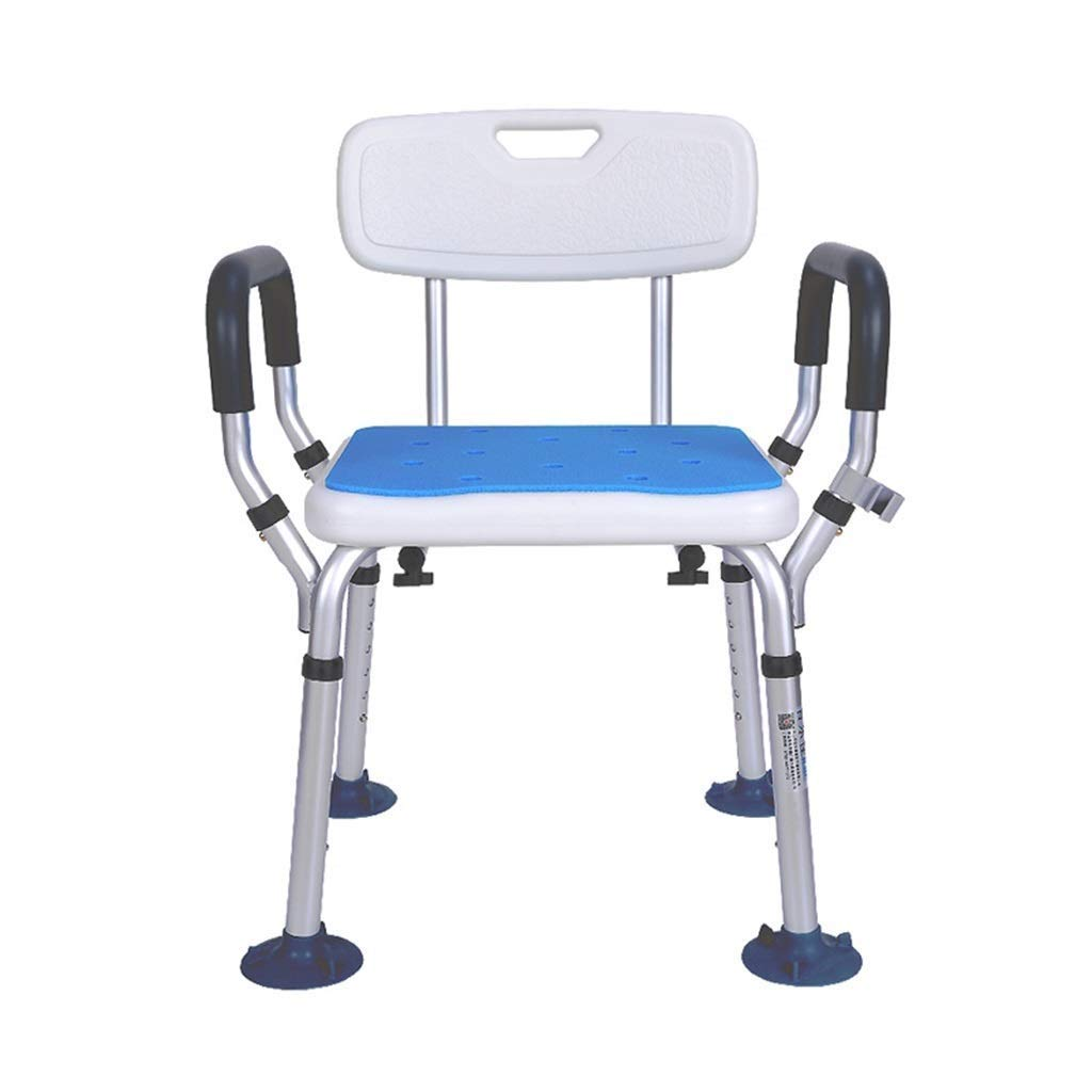 Shower Chair Extra Wide Seat Adjustable Armrest Bathroom Stool Non-Slip for Old Man Access to and from The Shower Seat by SBCHA (Image #1)