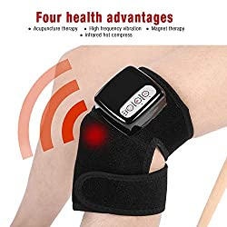 Cocoarm Multi-Functional Knee Massager, Adjustable Heat Vibration Brace Wrap Massager to Relieve Joint Pain for Knee Elbow Shoulder Massage