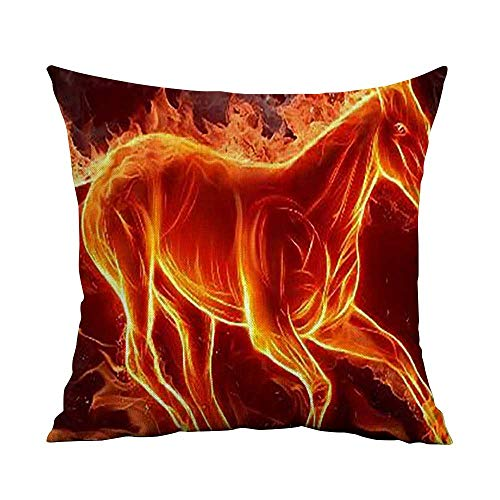 Estivation Pillowcases Covers with Zipper pic_ W17.8 x L17.8,Throw Pillows for Couch Set