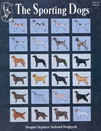 Pegasus Originals Sporting Dogs Counted Cross Stitch Book (Brittany Cocker Spaniel)