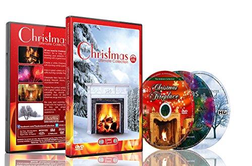 DVD de Navidad - Ultimate Christmas Collection XXL - Juego de 3 DVD con chimenea para nieve e invierno