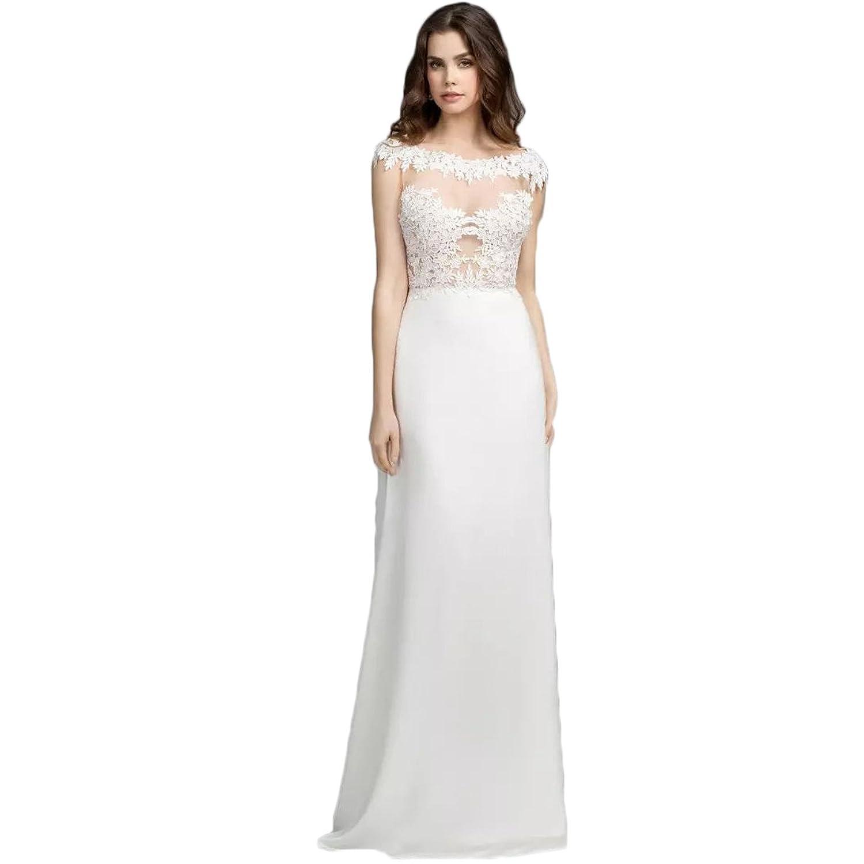 YoYodress Braut Jahrgang Strand Hochzeitskleider Spitze ...