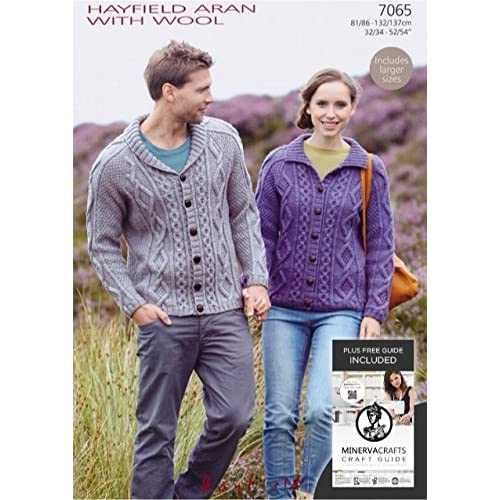 Aran Wool Cardigan Knitting Patterns Amazon