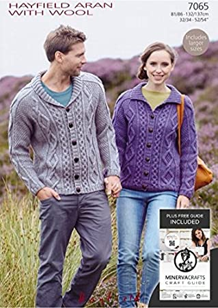 Sirdar Hayfield Aran With Wool Ladies Men S Cardigan Knitting