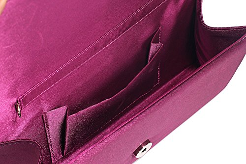 Women Satin Handbag Party look Case Design Purse Evening Clutch Hard Luxury For Bag New Designer Ladies 1 Purple Wedding rqyrI1Bw