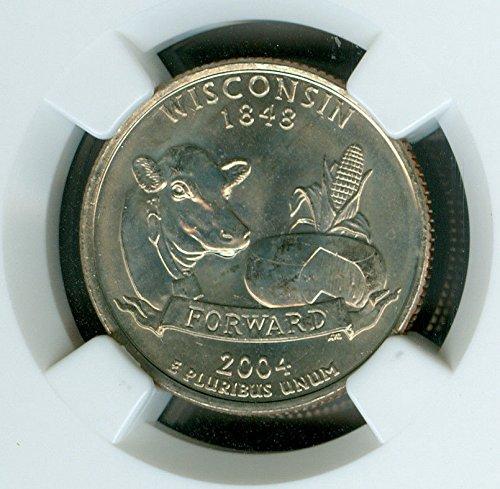2004 D Wisconsin Defective Die Quarter NGC MS66