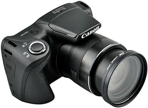 52mm Kiwifotos LA-52SX400 Filteradapter f/ür Canon PowerShot SX400 IS