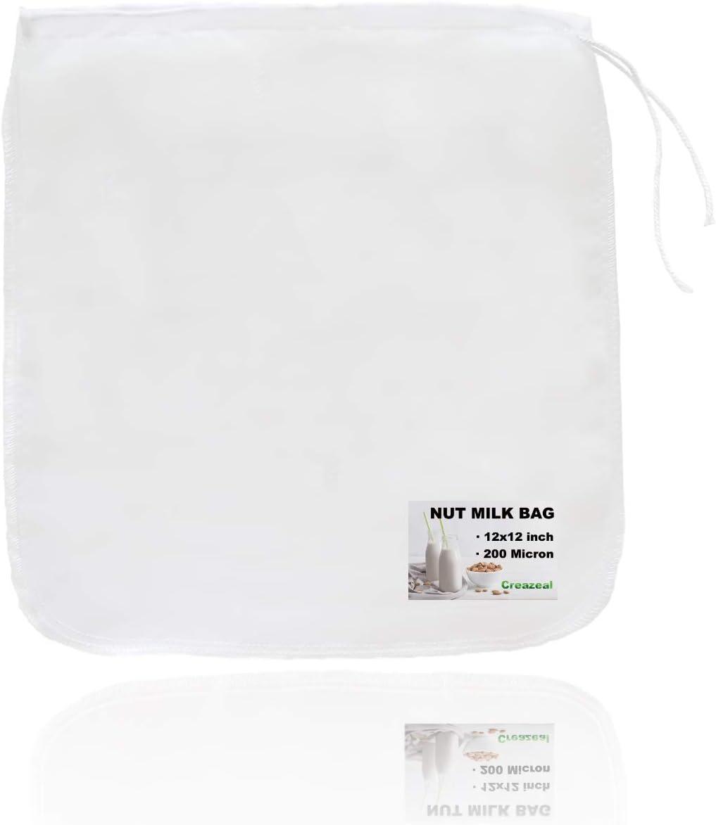 Creazeal Nut Milk Bag Reusable 1 Pack Big 12