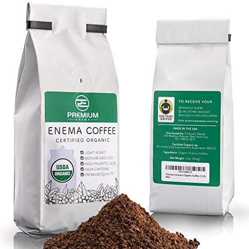 Premium EnemaTM Organic Enema Coffee (1LB) Light Roast, Medium Ground - Perfect for Gerson Coffee Enemas - Fair Trade Certified - Made in The USA