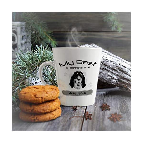 Ceramic Custom Latte Coffee Mug Cup My Best Friend Is Ariegeois Dog Tea Cup 12 Oz Design Only 5