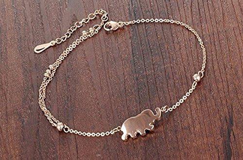 sungpunet 1/PCS Zarte Frauen Fu/ß Armband Elefant Charms Fu/ßkettchen Kette Beach Sandale barfu/ß Schmuck