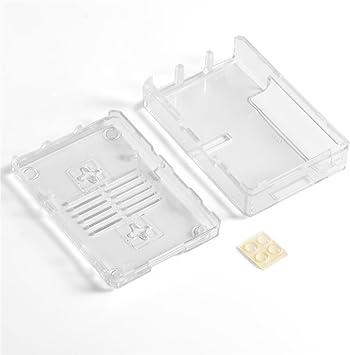 Richer-R Funda/Caja de Raspberry Pi,Carcasa Estuche Universal para Raspberry Pi 3 Modelo B +,Montable en Pared(Transparente)(Caja): Amazon.es: Electrónica