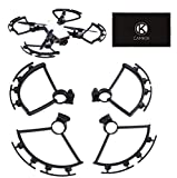 Drone Repair Parts - CamKix Propeller Guards Compatible with Spring Bumpers for DJI Spark - 1 Set (Black) - Protects Propellers from Impacts - Safe Flight Blade Shields - Essential DJI Spark Drone Accessory