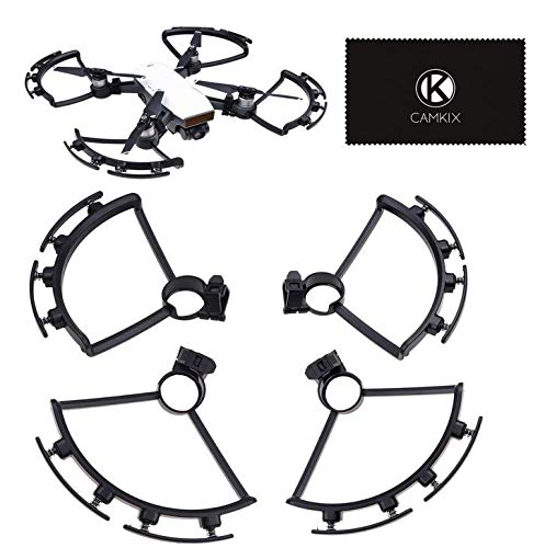CamKix Propeller Guards Compatible with Spring Bumpers for DJI Spark - 1 Set (Black) - Protects Propellers from Impacts - Safe Flight Blade Shields - Essential DJI Spark Drone Accessory