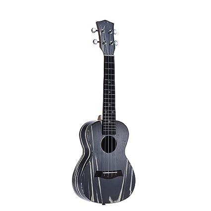 SONGYU Ukelele 24 Pulgadas Ukulele Guitarra Acústica 4 Cuerdas De Madera Mini Guitarra Mástil De Caoba