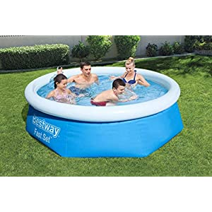 Bestway Fast Pool Set 244×66 cm, mit Filterpumpe Piscina (244 x 66 cm, con Bomba de Filtro), Azul