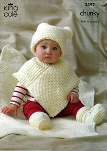 King Cole Knitting Pattern 3392 Easy Knit Babys Chunky Hat