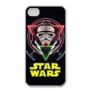 Protection Cover Nkrkd iPhone 4,4S White Phone Case Star Wars Personalized Durable Cases