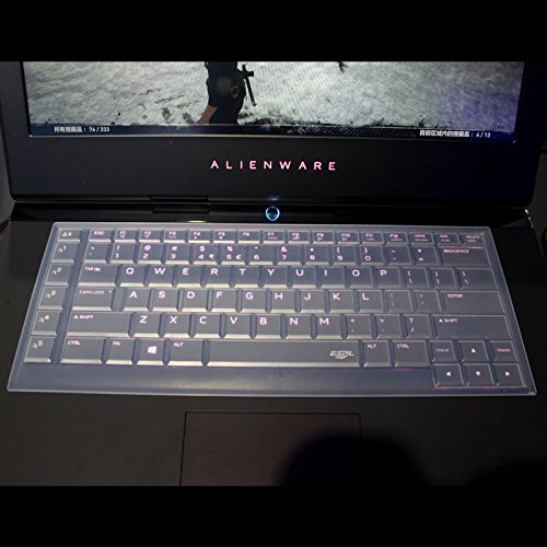 Leze - Ultra Thin Silicone Keyboard Cover for 15.6 Dell Alienware 15 R2 R3,Alienware AW15R3(2015-2018 Version),Alienware AW15R4 Gaming Laptop - Clear