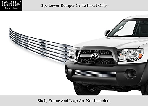 APS Compatible with 2005-2011 Toyota Tacoma Stainless Steel Bumper Billet Grille - Toyota Bumper Grille Tacoma Billet