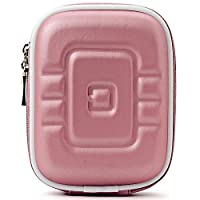 Limited Edition Pink Eva Mini Hard Shell Lightweight Zipper Compact Carrying Protector Case For Canon PowerShot Series Point & Shoot Digital Cameras from VANGODDY