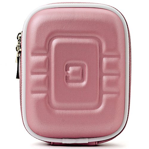 Limited Edition Magenta Eva Mini Hardshell Lightweight Carrying Case For Canon PowerShot Series Point & Shoot Digital Cameras (Case Magenta Camera)