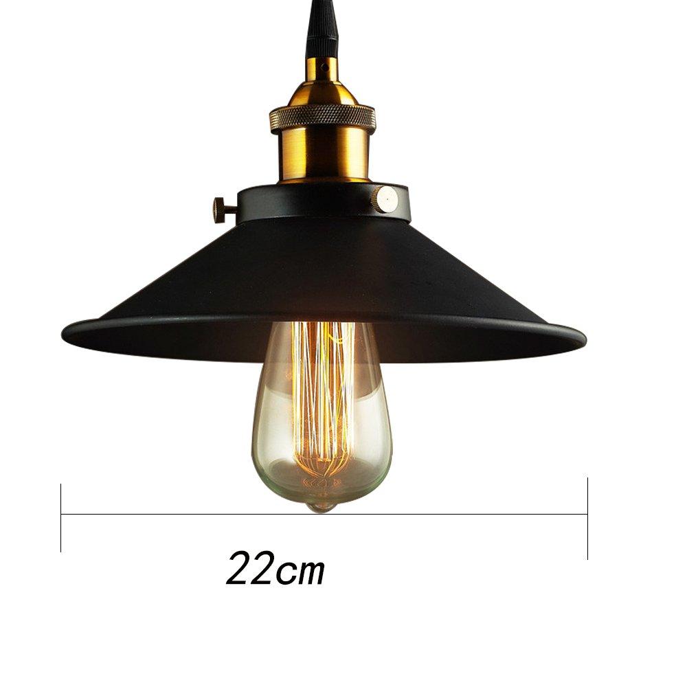 Senza Lampadina Lamapada a Sospensione Industriale Vintage Edison da Soffitto Luce Retro Interni Lampadario per Decorazione Attacco E27 Plafoniera in Metallo