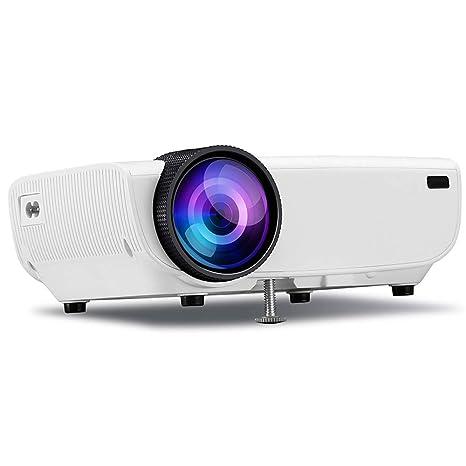 Proyector Full HD 1080P 4500: 1 Contraste Mini proyector de ...