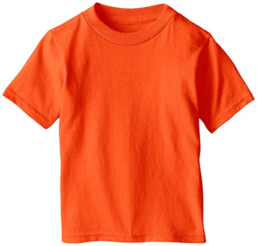 Soffe Little Boys' Toddler Pro Weight Short Sleeve Tee, Safety Orange, 2T